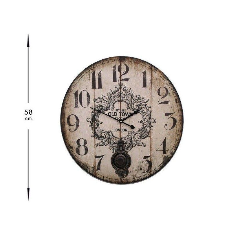 Tienda de decoraci n objetos decorativos relojes for Reloj pared retro