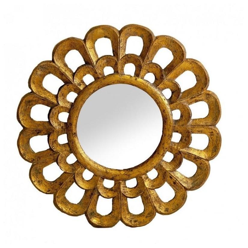 Comprar espejo de madera decapado forma de sol online - Formas de espejos ...