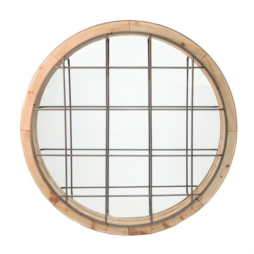 Tienda de decoraci n cuadros y espejos espejos for Espejos de madera redondos