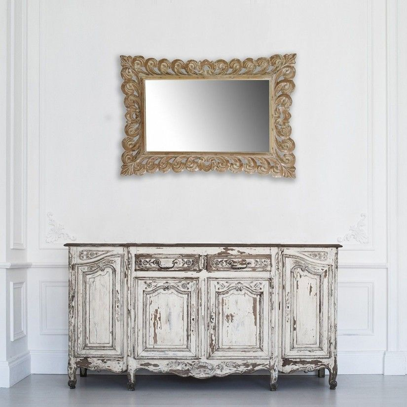 Comprar espejo de madera de teka tallada estilo provenzal - Decoracion provenzal online ...