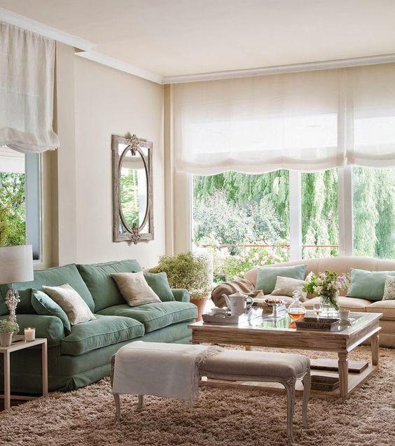 doble sofa y banqueta
