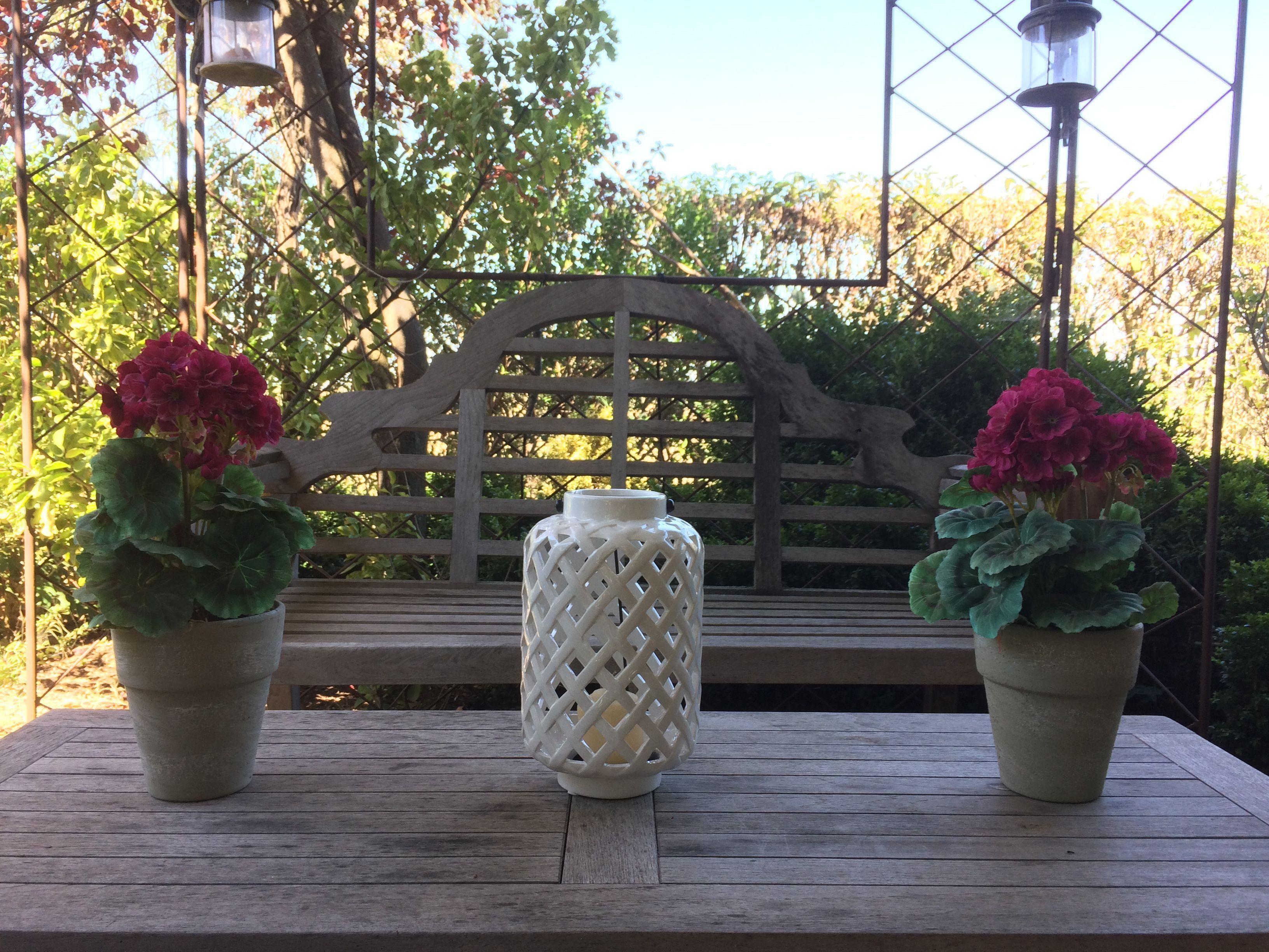 Portavelas rombo cerámica