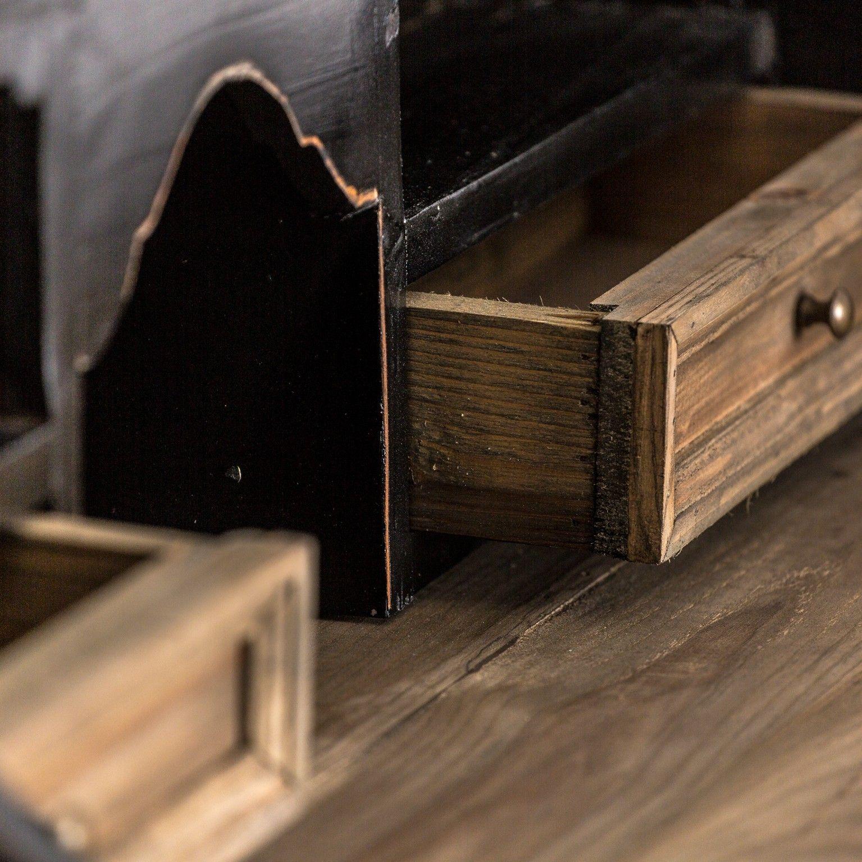 Detalle escritorio en negro vintage