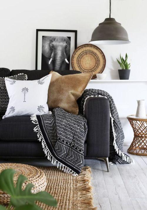 decoracion blanco y negro