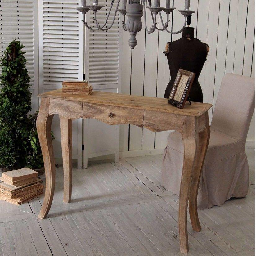 consola de madera decoracion rustica