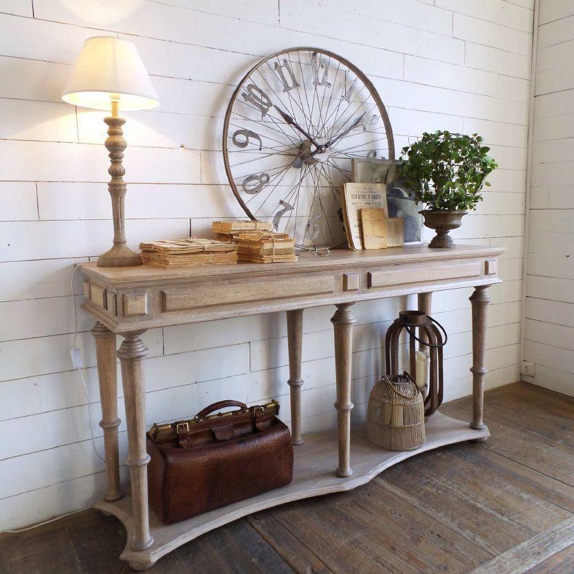 consola madera rustica
